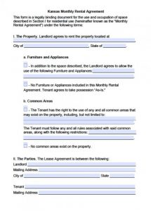 leasing agreement pdf kansas month to month lease agreement x
