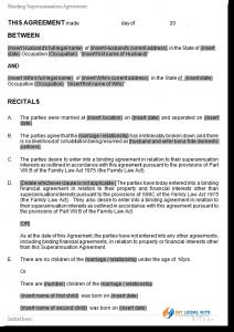 legal agreement template superannuation agreement sample