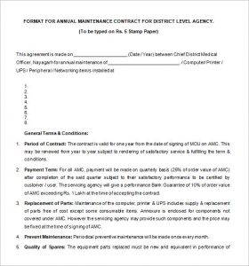 legal contract template free annual maintenance legal contract template download