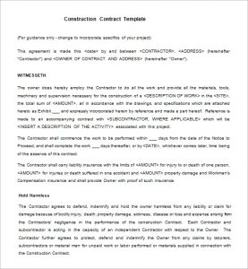 legal contract template legal construction contract template free download