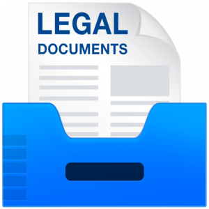 legal documents templates icon x