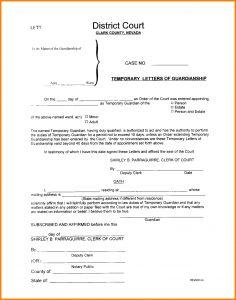 legal guardian form sample letters of temporary guardianship ledger paper