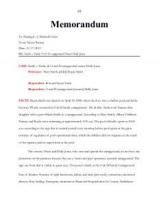 legal memorandum example unit final project and internal memo of law instructions