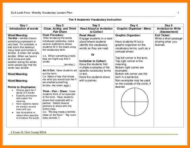 lesson plan template for preschool