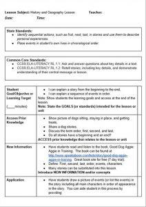 lesson plan template pdf common core history lesson plan