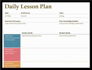 lesson plan template word lesson plan template word