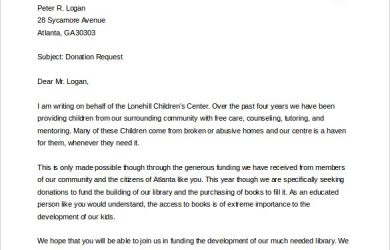 letter asking for donations letter asking for donations word doc download