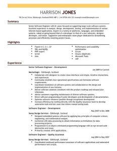 letter formats templates software engineer resume full