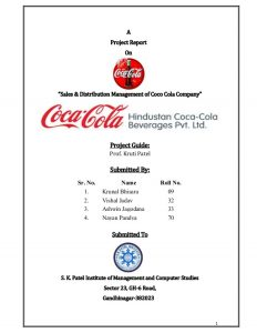 letter head examples project of hindustan coca cola beverages pvt ltd copy