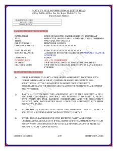 letter head format purchase bg sblc hsbc london contract
