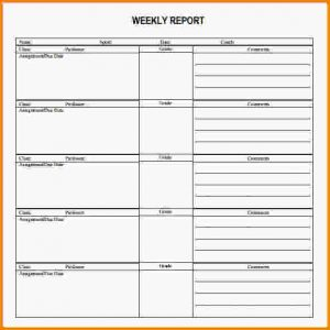letter head format weekly report templates weekly report template pdf