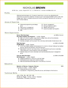 letter of agreement template cv about me examples web developer resume example emphasis expanded