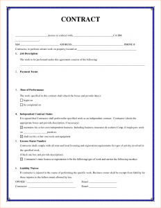 letter of agreement template simple construction contract