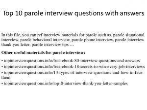 letter of agreement template top parole interview questions with answers