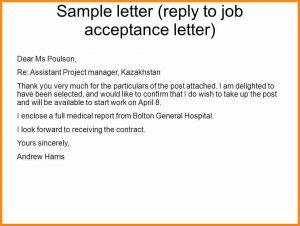 letter of application template job offer acceptance letter reply slide
