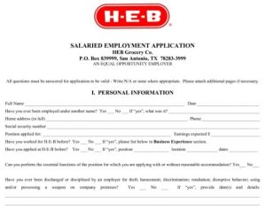 letter of applications examples heb job application online printable employment form heb job application