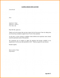 letter of character references denial letter for job rejection letter sample xdmulay