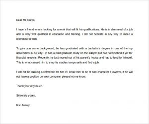 letter of character references free download reference letter for a friend
