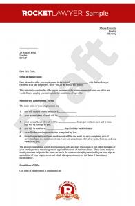 letter of employment offer offer of employment letter