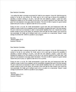 letter of employment templates academic recommendation letter