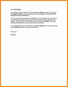 letter of eviction character reference letters samples