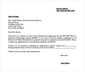 letter of intent example example college letter of intent