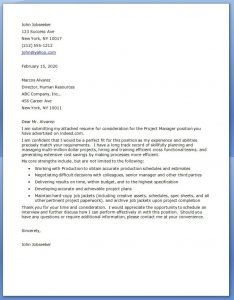 letter of intent for college project manager cover letter examples x