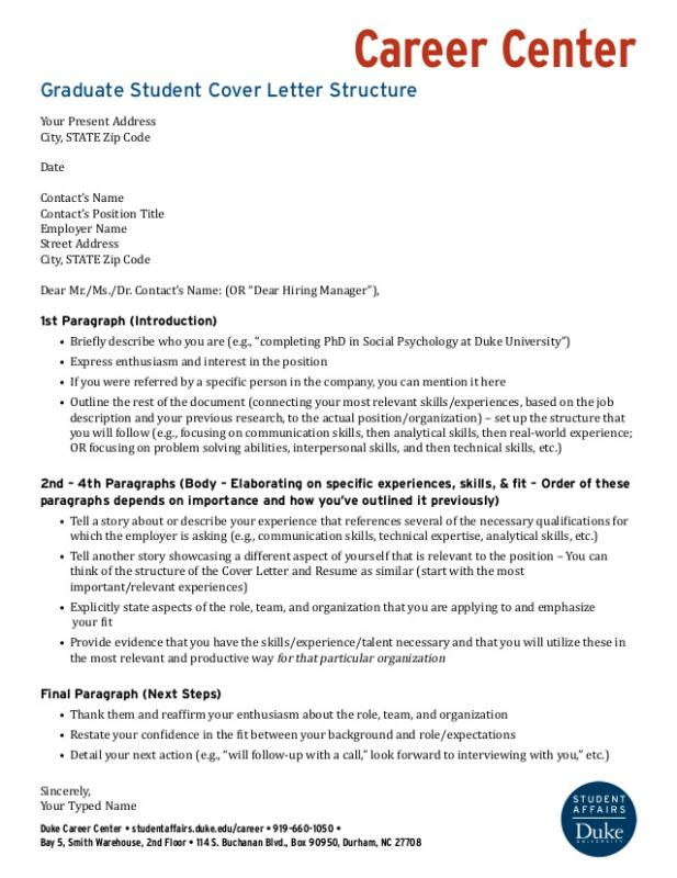 letter of intent for grad school