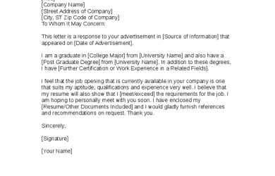 letter of intent format letter of intent template for a job