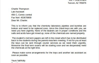 letter of intent residency fax cover letter format