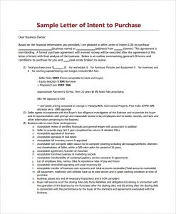 letter of intent to purchase letter of intent to purchase commercial property