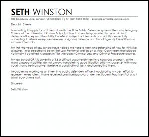 letter of interest samples internship letter of interest
