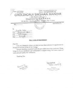 letter of notice ksaha