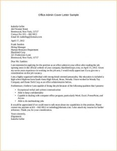 letter of recomendation template admin job cover letter office admin cover letter sample