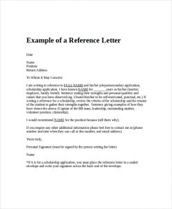 letter of recommendation for employment employment reference letter