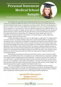 letter of recommendation for grad school personal statement medical school sample x