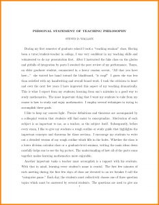 letter of recommendation for grad school statement of teaching philosophy sample