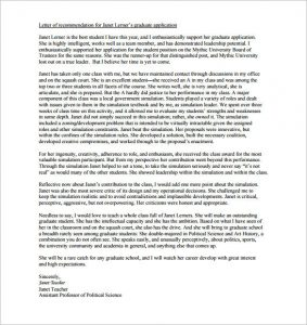 letter of recommendation for graduate school how to write a letter of recommendation for graduate school