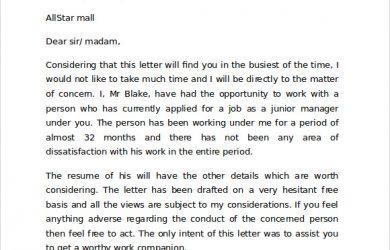 letter of recommendation for student teacher reference letter sample