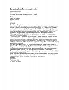 letter of recommendation for student teachers academic recommendation letter sample