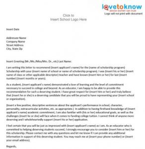 letter of recommendation template for student x current former student thumb