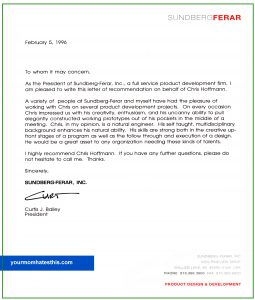 letter of recommendation template letter of recommendation template 4