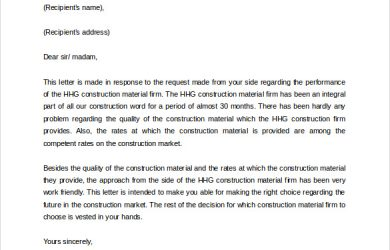 letter of reference template business reference letter template