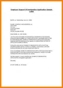 letter of support for immigration immigration letters of support sample