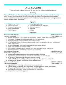 letter of support samples unforgettable maintenance technician resume examples to stand out hvac technician resume sample hvac technician resume sample