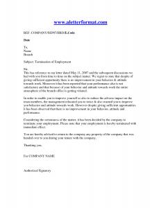 letter of termination letter of termination of employment