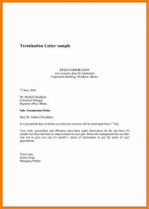 letter of termination of employee dismissal letter example termination template for employee with employment termination