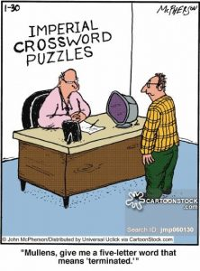 letter of termination of employee social issues job terminated fires crossword lay off jmp low