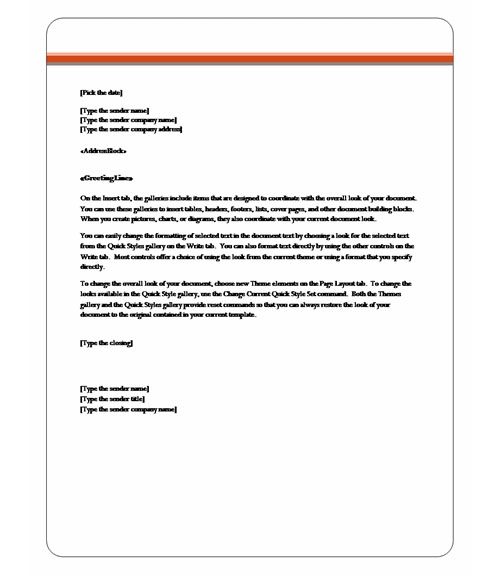 letter template word