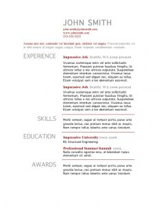 free resume template letter templates